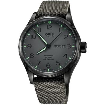 Oris Air Racing Edition 飛行賽紀念限量機械腕錶-灰/45mm 0173576984783-Set