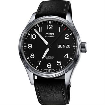 Oris Big Crown ProPilot 日曆星期機械腕錶-黑/45mm 0175276984164-0752219FC