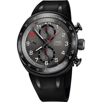 ORIS Grand Prix賽事歐陽若曦計時限量機械腕錶-黑/44mm 0177476117784-SET