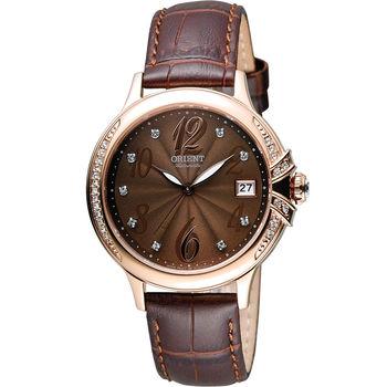 ORIENT 東方錶 ELEGANT系列 璀璨之星機械腕錶 FAC07001T 咖啡