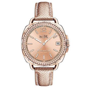 COACH Boyfriend 奢華時尚晶鑽女用腕錶/34mm/14502629