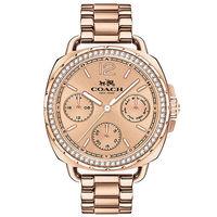 COACH Tatum 奢華水晶三眼日曆 鑽錶 玫瑰金 38mm 14502571