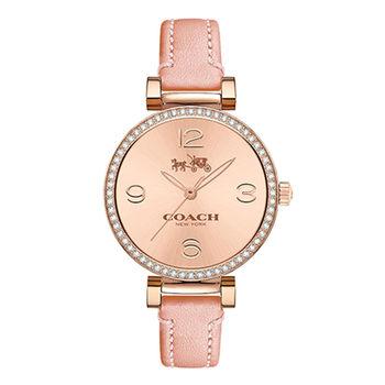 COACH Madison 經典永恆水晶時尚皮帶腕錶/32mm/14502649