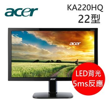 Acer 宏碁 KA220HQ 22型不閃屏瀘藍光液晶螢幕