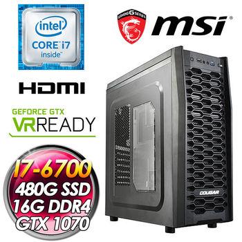 |微星平台|阿諾德II  I7-6700 微星B150M PRO-VD 微星GTX1070 GamingX 8G 16G DDR4 480G SSD 電競主機