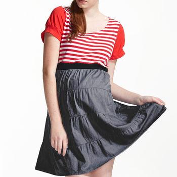 【ohoh-mini孕婦裝】經典美國風蛋糕裙孕婦洋裝