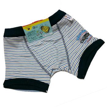 LOVIN BABY 台灣製一王美舒適男童横條汽車四角褲~6件-3464