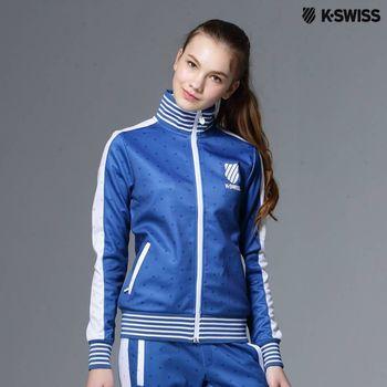 【K-Swiss】Allover Print Zip Up Jacket休閒外套-女-陳庭妮代言 (共兩色)
