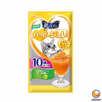 【Unicharm】嬌聯 銀湯匙 快樂貓肉凍-柴魚風味10歲以上 15g x 12包入
