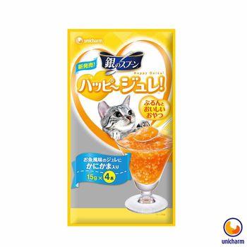 【Unicharm】嬌聯 銀湯匙 快樂貓肉凍-蟹肉風味 15g x 12包入