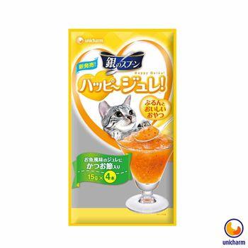 【Unicharm】嬌聯 銀湯匙 快樂貓肉凍-柴魚風味 15g x 12包入
