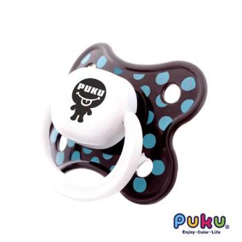 PUKU藍色企鵝 - 普普拇指型較大安撫奶嘴(藍點點)