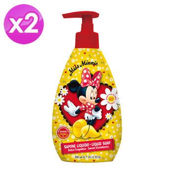 【義大利進口 Disney】Minnie洗手乳(甜草莓香)-300ml ( 2入組 )