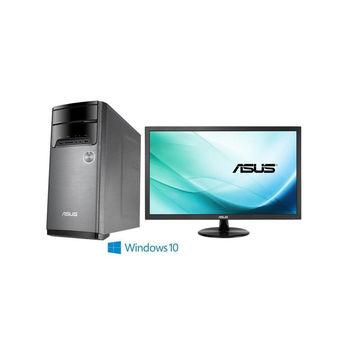 ASUS 華碩 M32BC-0031C831R5T FX-8310八核 R5 310獨顯 Win10 桌上型電腦(黑灰)+VP229DA 21.5吋 電腦螢幕 超值組