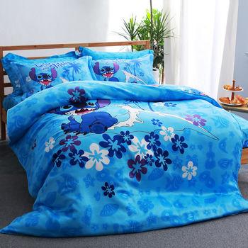【美夢元素】史迪奇-阿囉哈 TENCEL天絲 雙人加大四件式兩用被床包組
