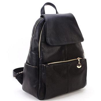 DF Queenin日韓 - 韓系專屬包款時尚皮革後背包