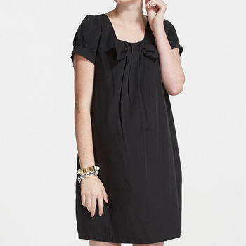 ohoh-mini孕婦裝高雅OL方領包袖孕婦洋裝