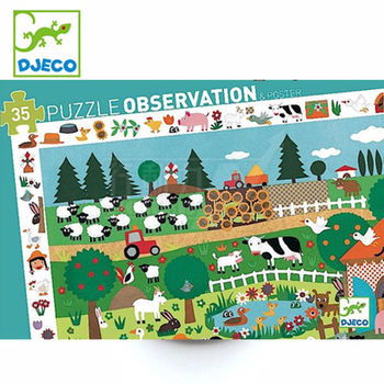 法國《DJECO-智荷》觀察拼圖-王老先生的農場(35片)