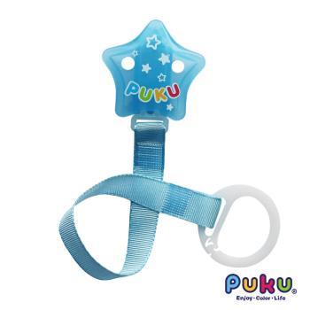 PUKU藍色企鵝 - 跳跳糖奶嘴鍊(水色)