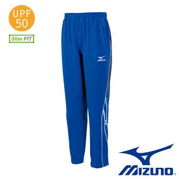 【Mizuno 美津濃】 Mizuno Slim Fit 合身版針織運動長褲 (法國藍X麻灰) 32TD653122