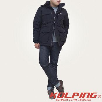 【KOLPING】KLO0208M 時尚長版防潑水羽絨紳士外套-男  首款長版時尚造型