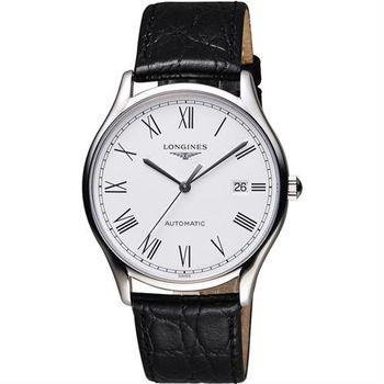 LONGINES 浪琴 Lyre琴韻系列羅馬機械腕錶-白/38mm L49604112