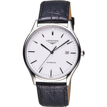 LONGINES 浪琴 Lyre琴韻系列機械腕錶-白x黑/38mm L49604122