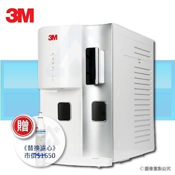 送專用替換濾心+午茶組 -【3M】桌上型極淨冰溫熱飲水機 HCD-2(簡約白)+3M 抑垢生飲淨水系統 AP2-C405-SG