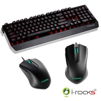 i-Rocks K60M機械式鍵盤-黑+M09遊戲滑鼠