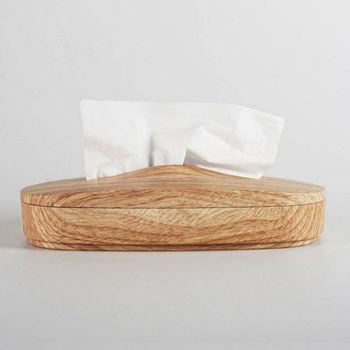 【文創精品】MIT神奇伸縮面紙盒(仿木紋)