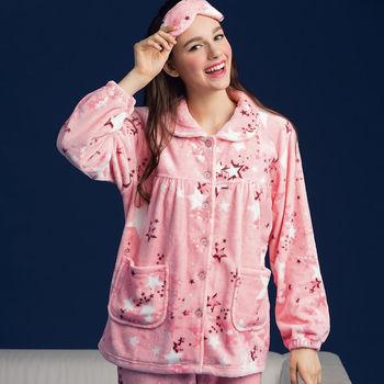 【皮爾卡登】繽紛甜星法蘭絨居家睡衣褲