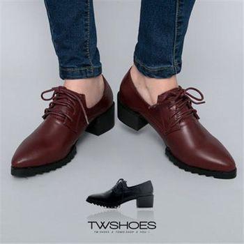【TOMO】英倫低跟綁帶尖頭紳士鞋【K160B2012】