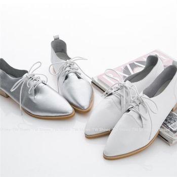【TOMO】英倫雅痞低跟尖頭真皮紳士鞋(K160B2017)