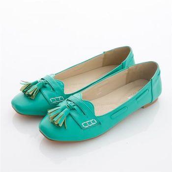 【TOMO】流蘇平底方頭包鞋(K130A2007)