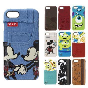 【日本 PGA-iJacket】UNISTYLE Disney皮革背蓋口袋造型系列iPHONE7硬殼保護殼