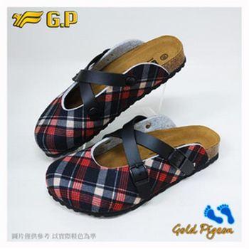 【G.P 休閒個性柏肯鞋】W778-黑紅色/咖啡色(SIZE:35-39 共二色)