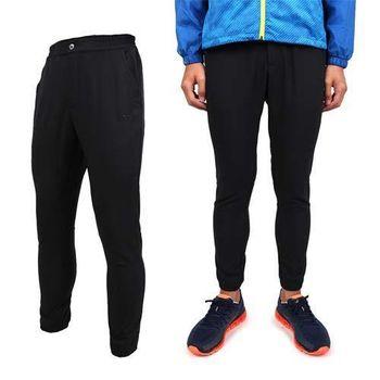 【MIZUNO】男平織長褲 - 慢跑 路跑 美津濃 黑  雙側口袋