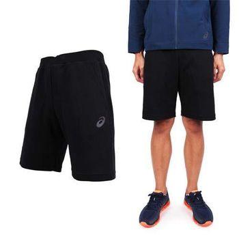 【ASICS】男運動短褲 - 路跑 慢跑 棉褲 亞瑟士 黑  兩側口袋