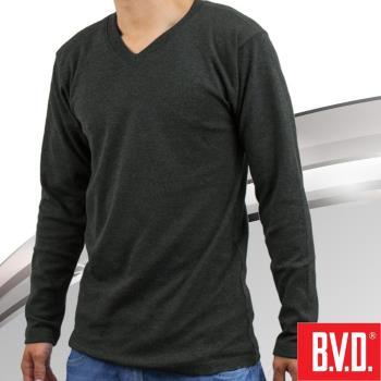 【BVD】棉絨V領長袖衫-台灣製造  棉絨保暖 柔軟舒適
