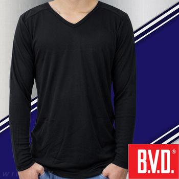 【BVD】絲柔瞬熱V領長袖衫-台灣製造  蓄熱保暖 柔軟舒適
