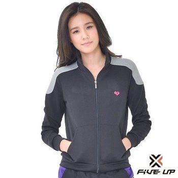 FIVE UP-撞色針織外套-女-黑色S-XL