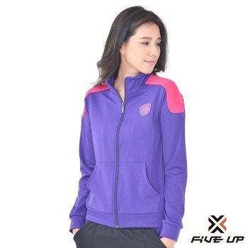 FIVE UP-撞色針織外套-女-紫S-XL