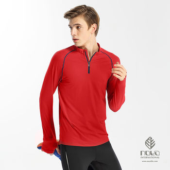 【NOYA】MIT彈性舒膚運動防曬爬線長袖男立領衫M-2XL    原紗吸濕排汗,乾爽舒適
