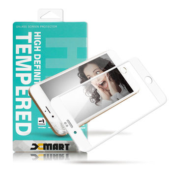 XM Apple iPhone 6 / i6 4.7吋 防碎邊滿版3D玻璃保護貼-厲害白