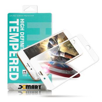 XM Apple iPhone 6 Plus / i6+ 5.5吋 防碎邊滿版3D玻璃保護貼-厲害白