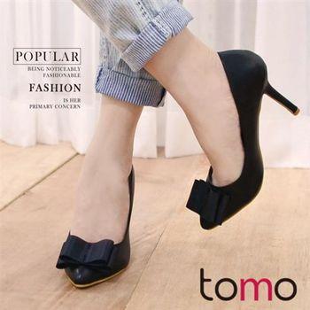 【TOMO】氣質典雅蝴蝶結造型高跟鞋(K160D3449)
