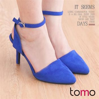 【TOMO】名媛質感繞腳踝交叉綁帶細高跟鞋【K160D3566】
