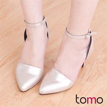 【TOMO】名媛性感後腳踝交叉綁帶細高跟鞋【K160D3580】