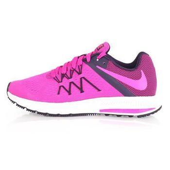 【NIKE】WMNS ZOOM WINFLO 3 女慢跑鞋 - 路跑 粉紫白