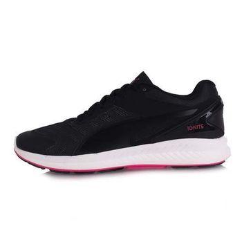 【PUMA】IGNITE V2 女慢跑鞋- 路跑 競走 黑粉